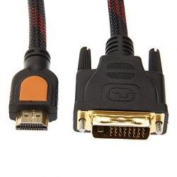 HDMI - DVI 3 метра - Кабель, провод, шнур HDMI-DVI-D 3М