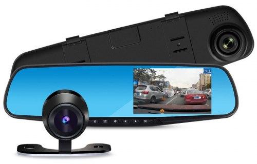 Видеорегистратор в зеркале XPX ZX803 2 камеры Full HD