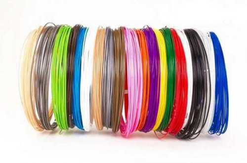 Пластик для 3D ручек набор, комплект 20 цветов
