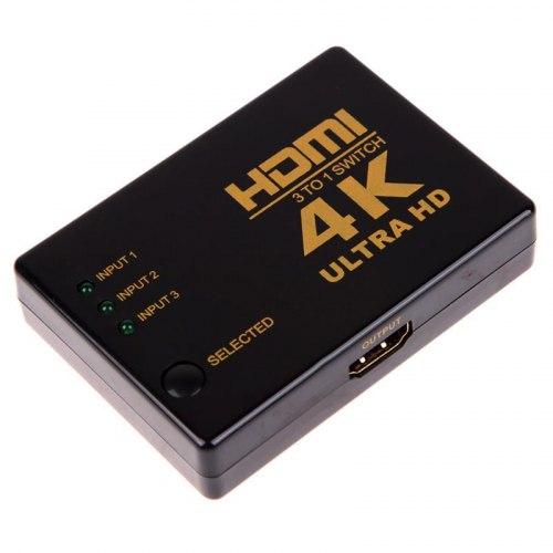 Переключатель HDMI Switch 3x1 4K (из 3-X HDMI в 1-HDMI) свич