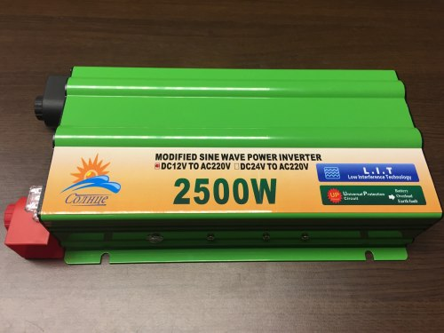 Инвертор 12-220V 2500W 12 на 220вольт 2500 Ват преобразователь напряжения TBF