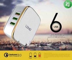 Сетевое зарядное LDNIO A6704 (6USB 7A)