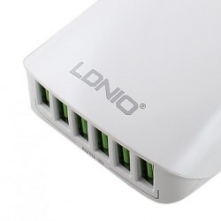 Сетевое зарядное LDNIO A6573 (6USB 5,4A)