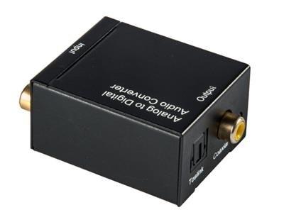 Аудио переходник (конвертер, адаптер) Из R/L стерео аудио (Тюльпаны или 3,5 Jack) на Цифровой Коаксиальный и Оптический Toslink (Analog to Digitall)