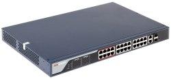 """Коммутатор Ethernet с PoE 19"""" управляемый Hikvision DS-3E1326P-E"""