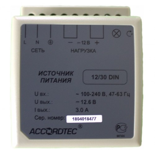 Блок питания AccordTec AT-12/30 DIN