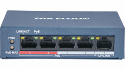Коммутатор Ethernet с PoE настольный Hikvision DS-3E0105P-E/M(B)