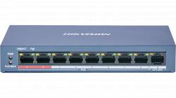 Коммутатор Ethernet с PoE настольный Hikvision DS-3E0109P-E/M(B)
