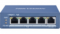 Коммутатор Ethernet с PoE настольный Hikvision DS-3E0505P-E/M
