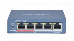 Коммутатор Ethernet с PoE настольный Hikvision DS-3E0105P-E(B)