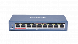 Коммутатор Ethernet с PoE настольный Hikvision DS-3E0109P-E(C)