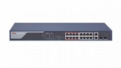 "Коммутатор Ethernet с PoE 19"" Hikvision DS-3E0318P-E(B)"