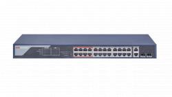 "Коммутатор Ethernet с PoE 19"" Hikvision DS-3E0326P-E(B)"