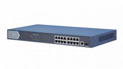 "Коммутатор Ethernet с PoE 19"" Hikvision DS-3E0518P-E"