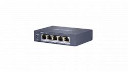 Коммутатор Ethernet с PoE настольный Hikvision DS-3E0505HP-E