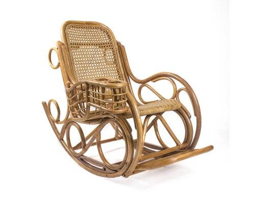 Кресло-качалка из ротанга Coral с подушкой