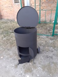 """Печь - бочка """"Смуглянка"""" 200Л для сжигания мусора Nada"""