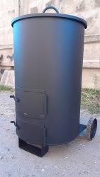 """Печь - бочка для сжигания мусора """"Золушка""""-2 (4 мм) особо прочная"""