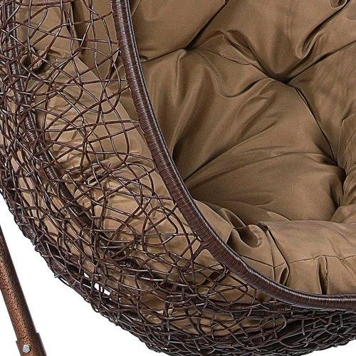 Подвесное кресло из искусственного ротанга AFM-219A Brown