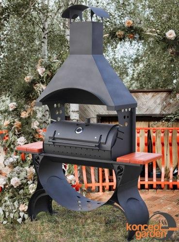 Мангал-коптильня МК-7