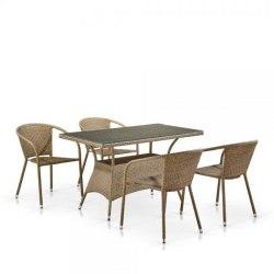 Комплект мебели из иск. ротанга Light Brown
