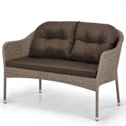 Плетеный диван из искусственного ротанга S54B-W56 Light brown