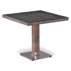 Плетеный стол из искусственного ротанга T503SG-W1289-80х80 Pale