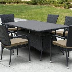 Плетеный стол AFM-170S Black