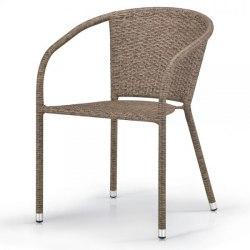 Плетеное кресло из искусственного ротанга Y137C-W56 Light brown