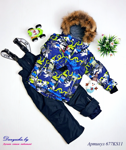 Комбинезон зимний на мальчика(Мембрана) M.Y.S модель - 677KS11