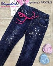 Утепленные джинсы на девочку модель - 993GS21