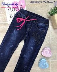 Утепленные джинсы на девочку модель - 994GS21