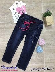 Утепленные джинсы на девочку модель - 995GS21