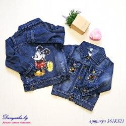 Джинсовая куртка на девочку модель - 361KS21