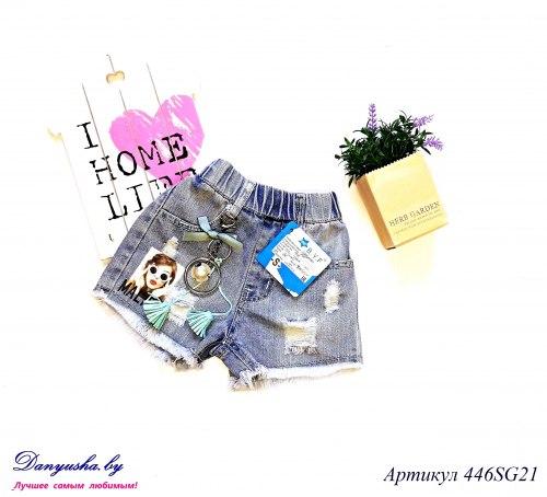Шорты джинсовые на девочку модель - 446SG21