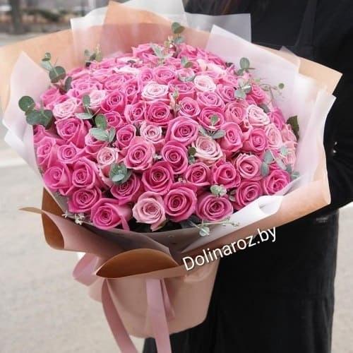 """Букет """"Розовый стиль"""" 101 роза"""