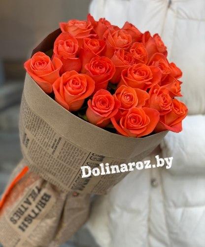 """Букет роз """"Морковка"""" 21 роза"""