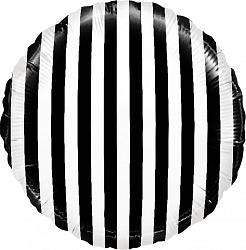 """Фольгированный шар """"Черно-белая полоса"""" 18″ (46 см)"""