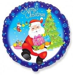 """Фольгированный шар """"Санта с подарками"""" 18″ (46 см)"""