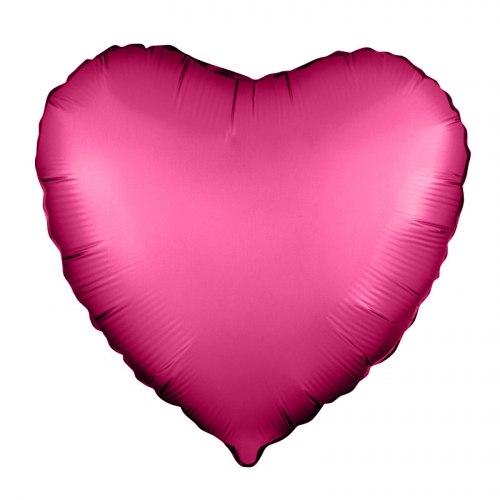 """Фольгированный шар """"Гранатовое сердце"""" 18″ (46 см)"""