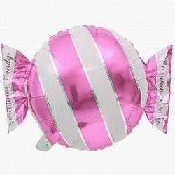 """Фольгированный шар """"Конфета, Розовый"""" 18″ (46 см)"""