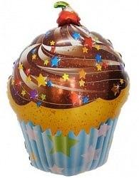 """Фольгированный шар """"Шоколадный торт"""" 28″ (71 см)"""