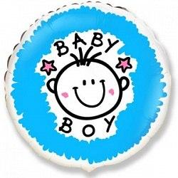 """Фольгированный шар """"Малыш-мальчик"""" 18″ (46 см)"""