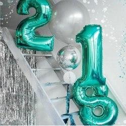 """Фольгированный шар """"Цифра, 1, Тиффани"""" 40"""" (102 см)"""