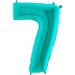 """Фольгированный шар """"Цифра, 7, Тиффани"""" 40"""" (102 см)"""