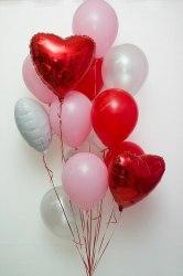 """Связка латексных и фольгированных шаров № 11 (15 шт.) 12"""" (30 см) и 18"""" (46 см)"""