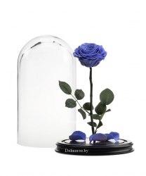 Роза в стеклянной колбе (лиловая)