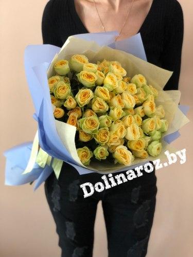 """Букет """"Лимончик"""" Кустовые розы"""