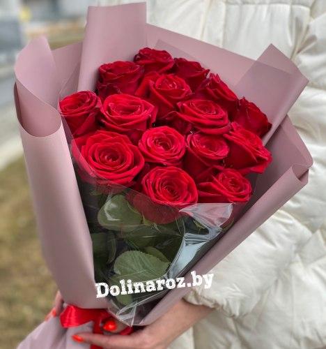 """Букет роз """"Фиона"""" 15 роз"""