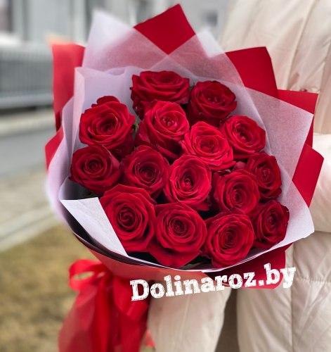 """Букет роз """"Вечная Страсть"""" 15 роз"""
